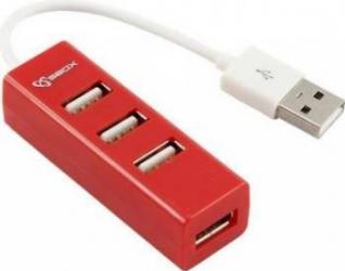 HUB USB 2.0 SBOX H-204R 4 porturi Rosu USB Hub