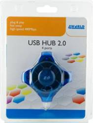 Hub USB 4World 4 porturi color