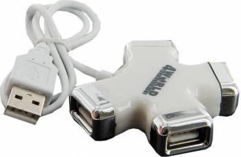 Hub USB 4World Star 4 porturi Alb