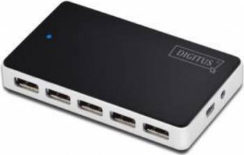Hub USB Digitus 10-port Negru usb hub
