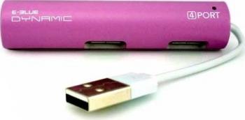 Hub USB E-Blue Dynamic Passion Red 4 porturi USB2.0 USB Hub