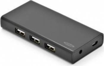 Hub USB 2.0 Ednet 7-port Black usb hub