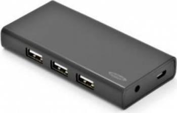 Hub USB 2.0 Ednet 7-port Black USB Hub
