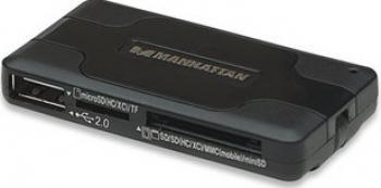 Hub USB Manhattan Combo Hub 3 porturi 42 in 1 card reader