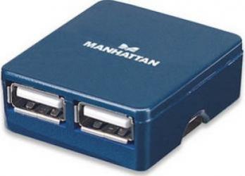 Hub USB Manhattan Micro blue 4 porturi USB Hub