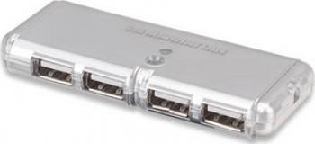 Hub USB Manhattan Pocket Hub 4 porturi Bus Power
