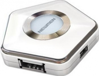 Hub USB Newmen UH-109 4 porturi USB 2.0 White