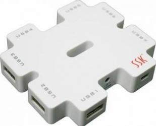Hub USB SSK SHU011-C 7 x USB 2.0 USB Hub