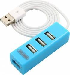 Hub USB Unitek USB 2.0 mini 4 porturi Albastru