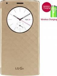 Husa Agenda Circle View LG G4 cu NFC si QI Gold