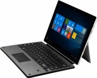 Husa aluminiu Krasscom cu tastatura detasabila bluetooth si touchpad pentru Microsoft Surface Pro 3 Pro 4 Negru Huse Tablete