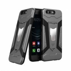 Husa antisoc cu stand metalic pentru suport magnetic Huawei P10 Gri huse telefoane