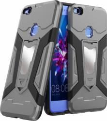 Husa antisoc cu stand metalic pentru suport magnetic Huawei P8 Lite 2017 - P9 Lite 2017 - Nova Lite - Honor 8 L huse telefoane