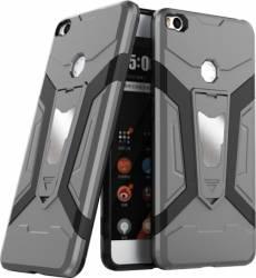 Husa antisoc cu stand metalic pentru suport magnetic Xiaomi Mi Max 2 Gri Huse Telefoane