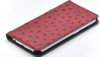 Husa Book Tellur Samsung Galaxy S6 Edge Piele Rosu Huse Telefoane