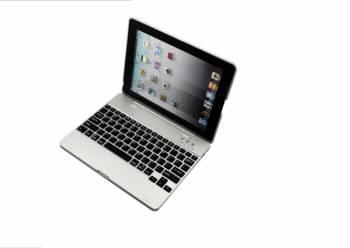 Husa carcasa cu tastatura bluetooth pentru Ipad 2-3-4 Argintiu Huse Tablete