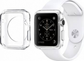 Husa Carcasa Slim Din Plastic Pentru Apple Watch 38mm Transparent