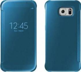 pret preturi Husa Clear View Cover OEM Samsung S6 Edge Turquoise