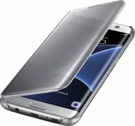 Husa Clear View Samsung Galaxy S7 Edge G935 Silver