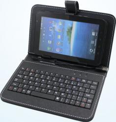 Husa cu tastatura tableta Utok 7-8 Universala Neagra Huse Tablete