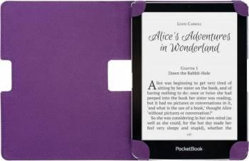 Husa de protectie flip PocketBook eBook Reader PB630 Sense 6 inch alb/mov Huse Tablete