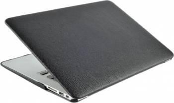 Husa din piele ecologica pentru MacBook Air 13-inch A1466 - A1369 Negru Genti Laptop