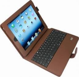 Husa Din Piele Naturala Qwertypad 932 Pentru iPad 2 3 4 Cu Tastatura Bluetooth Huse Tablete