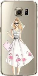 Husa din silicon pentru Samsung S7 Flamingo Diva transparent huse telefoane