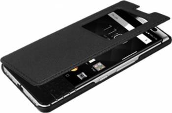 Husa Flip BlackBerry KeyOne FCB100 Neagra Huse Telefoane