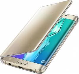 Husa Flip Clear View Samsung Galaxy S6 EDGE Plus G928 Gold Resigilat Huse Telefoane