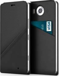 Husa Flip Cover Mozo Black Golf cu NFC si Wireless Charging pentru Microsoft Lum huse telefoane