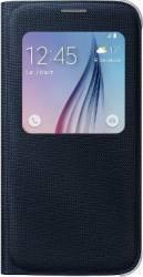 Husa Flip S-View Fabric Samsung Galaxy S6 G920 Blue Black