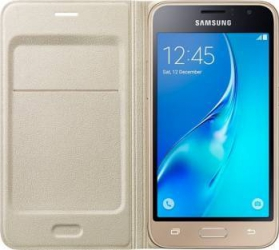 Husa Flip Samsung Galaxy J1 J120 2016 Aurie
