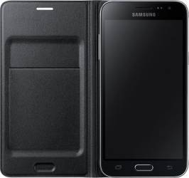 Husa Flip Samsung Galaxy J3 J320 2016 Neagra Huse Telefoane