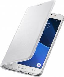 Husa Flip Samsung Galaxy J7 J710 2016 Alba huse telefoane