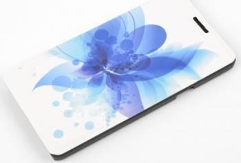 Husa flip Tellur Folio pentru Samsung Galaxy A7 A700 2015 blue flower Huse Telefoane
