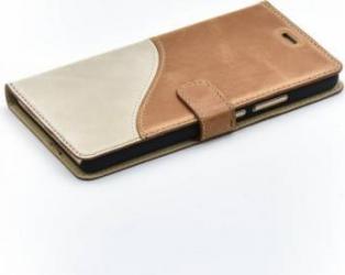 Husa Flip Tellur Huawei P9 Lite Piele Maro-Alb huse telefoane
