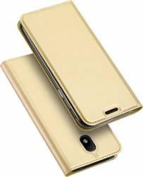 Husa flip wallet Dux Ducis Samsung Galaxy J7 2017 J730F Auriu huse telefoane