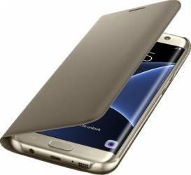 Husa Flip Wallet Samsung Galaxy S7 Edge G935 Gold Huse Telefoane