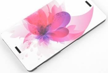 Husa Folio Tellur pentru Nokia Lumia 435 pink flower Huse Telefoane