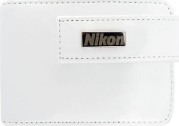 Husa foto Nikon pentru S4300 piele alba