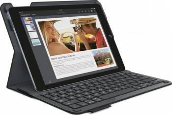 Husa Logitech cu Bluetooth pentru iPad Negru Huse Tablete