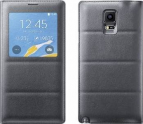 Husa OEM Flip Samsung Galaxy Note 4 N910C Neagra Huse Telefoane