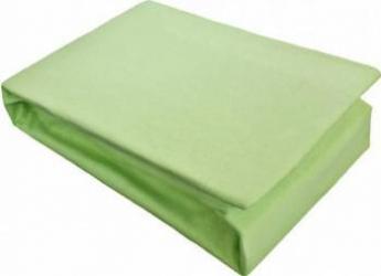 Husa Pat Home Still Jersey cu elastic 140x200 cm Verde Cearceafuri si fete perna