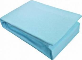 Husa Pat Home Still Jersey cu elastic 180x200 cm Albastru Cearceafuri si fete perna