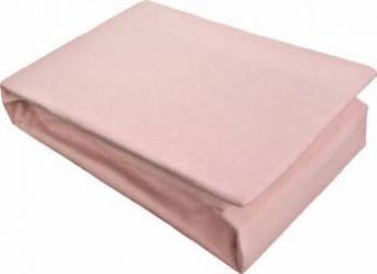 Husa Pat Home Still Jersey cu elastic 180x200 cm Roz cearceafuri si fete perna