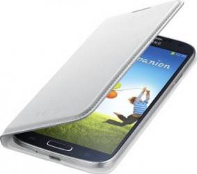 Husa Piele Flip Samsung Galaxy S4 I9500 I9505 White