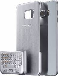 Husa protectie cu Tastatura Qwerty pentru Samsung Galaxy S6 Edge Plus G928 Argintie Huse Telefoane