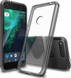 Husa Ringke Google Pixel XL Fusion Smoke Neagra  + Bonus folie protectie display Ringke Huse Telefoane
