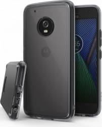 Husa Ringke Motorola Moto G5 Plus 2017 Fusion Smoke Black + folie protectie display Ringke Huse Telefoane